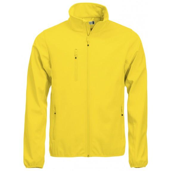 Clique Basic Softshell Jas Heren Lemon