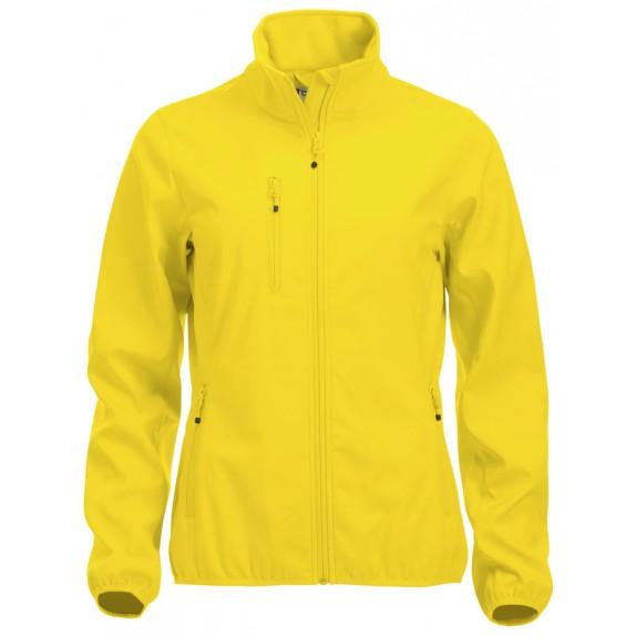 Clique Basic Softshell Jas Dames Lemon