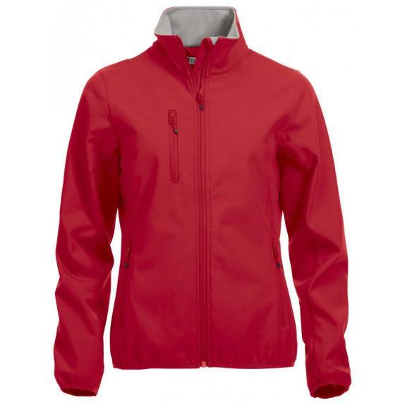 Clique Basic Softshell Jas Dames Red