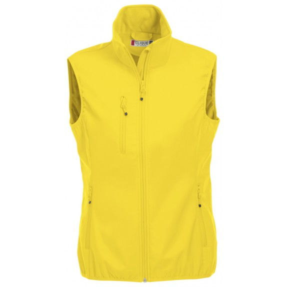 Clique Basic Softshell Ds Bodywarmer Lemon