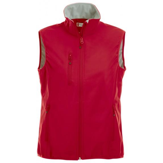Clique Basic Softshell Ds Bodywarmer Red