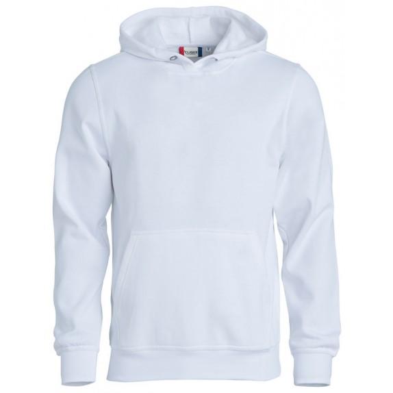 Clique Basic hoody jr Wit