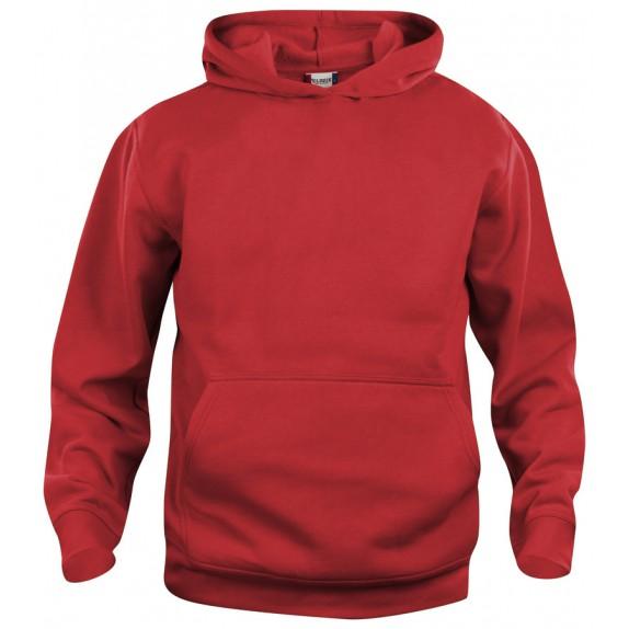 Clique Basic hoody jr Rood