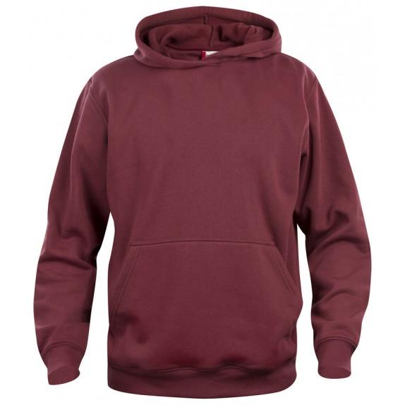 Clique Basic hoody jr Bordeaux