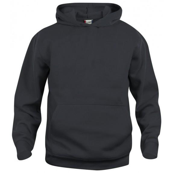 Clique Basic hoody jr Zwart