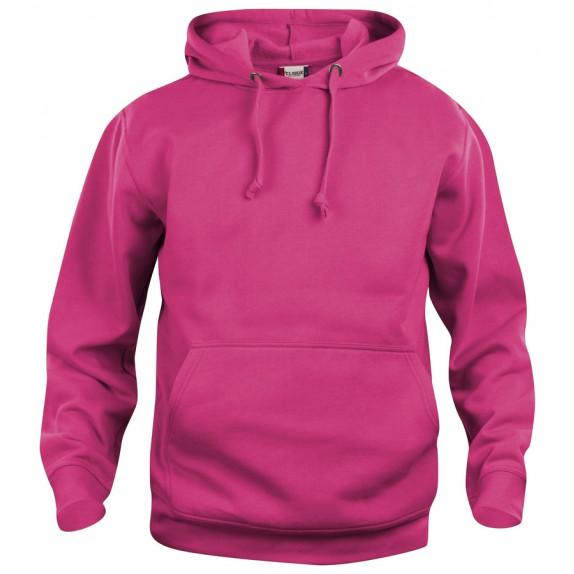 Clique Basic hoody Helder Kersen