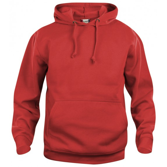 Clique Basic hoody Rood