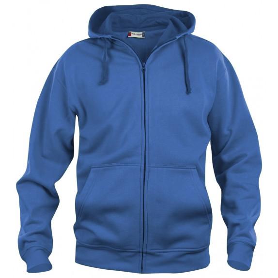 Clique Basic hoody full zip Kobalt