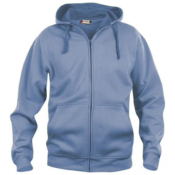 Clique Basic hoody full zip Lichtblauw