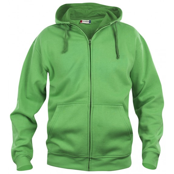 Clique Basic hoody full zip Appelgroen