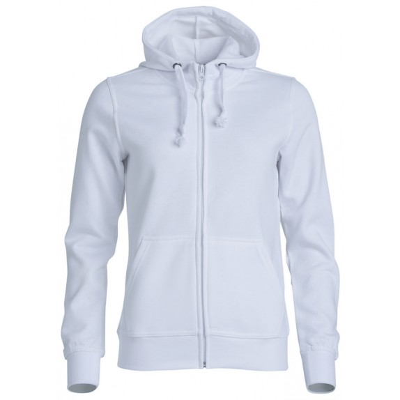Clique Basic hoody full zip ds Wit