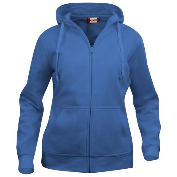 Clique Basic hoody full zip ds Kobalt