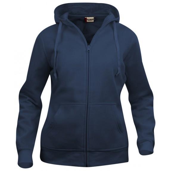Clique Basic hoody full zip ds Donker Navy