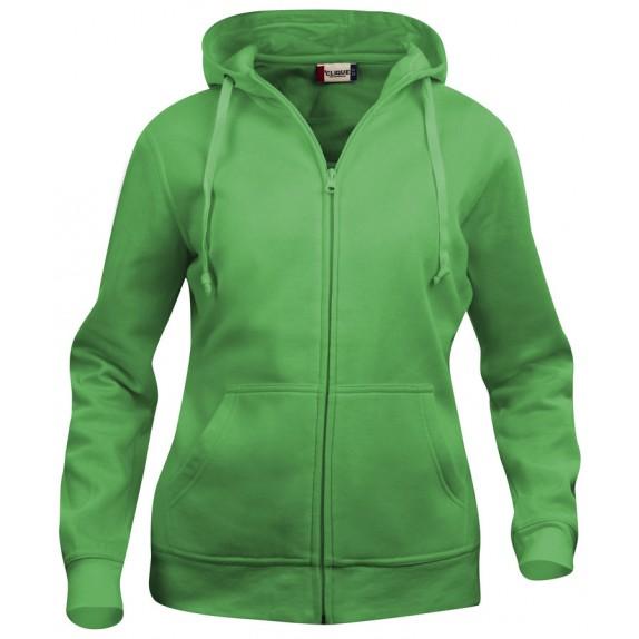 Clique Basic hoody full zip ds Appelgroen