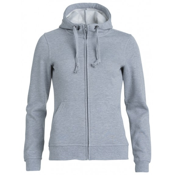 Clique Basic hoody full zip ds Grijs Melange