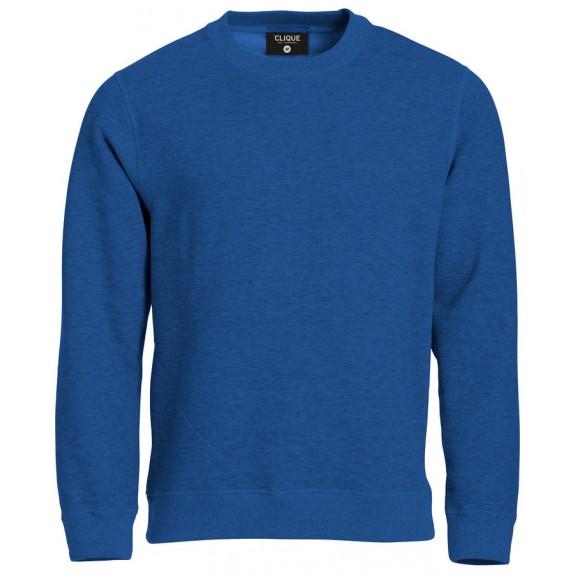 Clique Classic Roundneck Blauw Melange