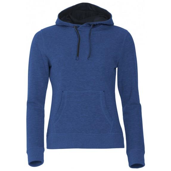 Clique Classic Hoody Ladies Blauw Melange