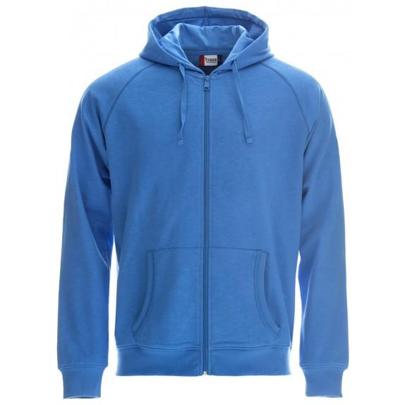 Clique Loris Hood Sweat FZ Polar Blauw