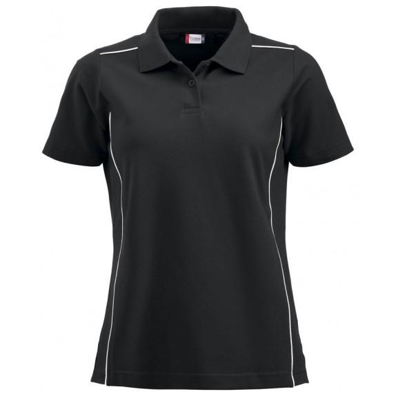 Clique New Alpena Dames Polo Zwart