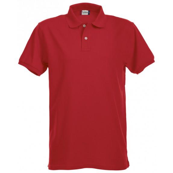 Clique Premium Heren Polo Red