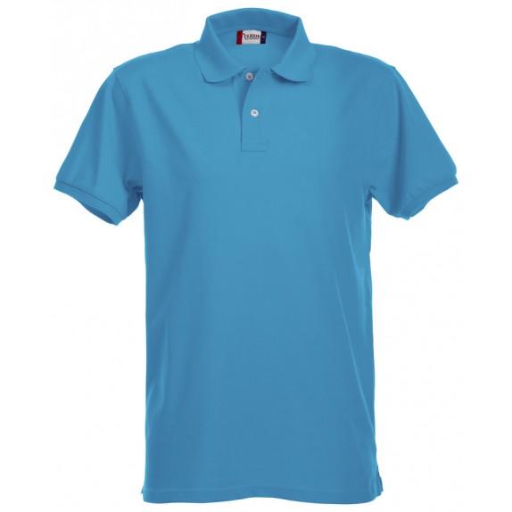 Clique Premium Heren Polo Turquoise