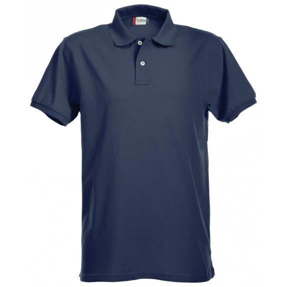 Clique Premium Heren Polo Donker Navy