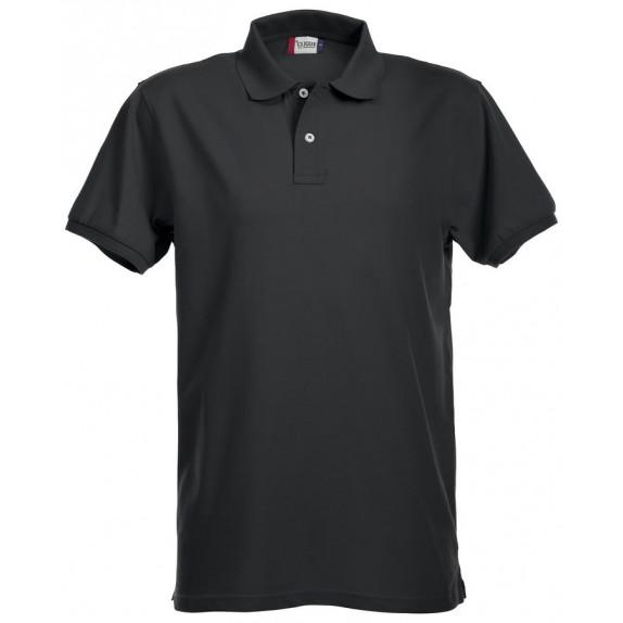 Clique Premium Heren Polo Zwart