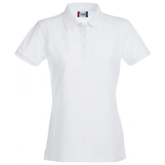 Clique Premium Dames Polo Wit