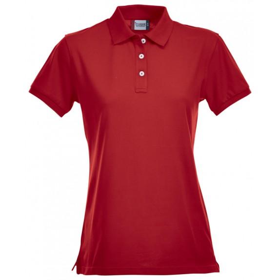 Clique Premium Dames Polo Red