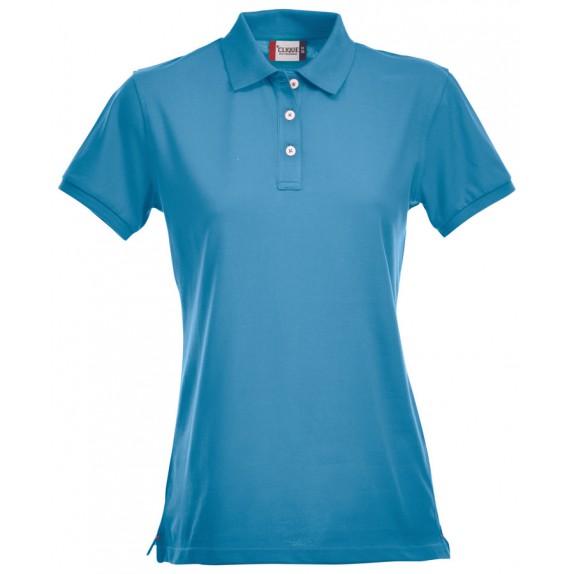 Clique Premium Dames Polo Turquoise