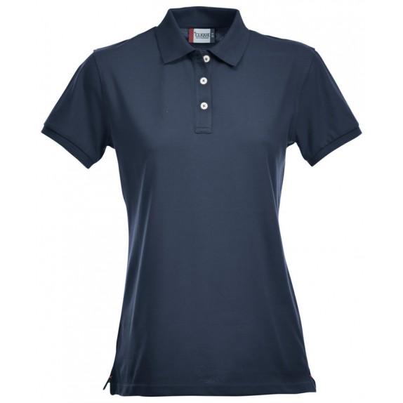 Clique Premium Dames Polo Donker Navy