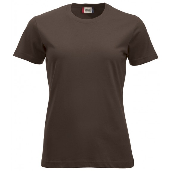 Clique New Classic T Ladies Donker Mocca