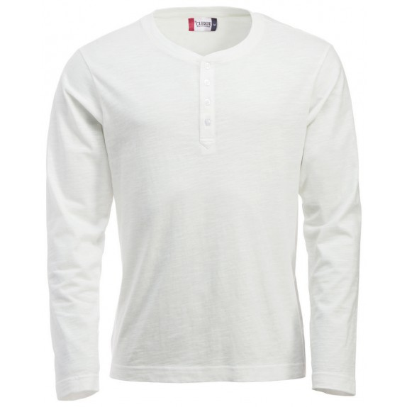 Clique Orlando hr T-shirt Steenwit