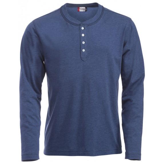 Clique Orlando hr T-shirt Blauw Melange