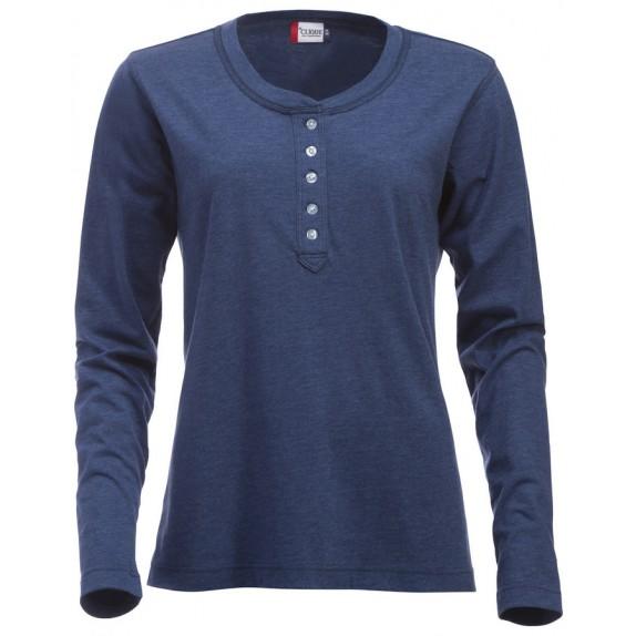 Clique Orlando ds T-shirt Blauw Melange