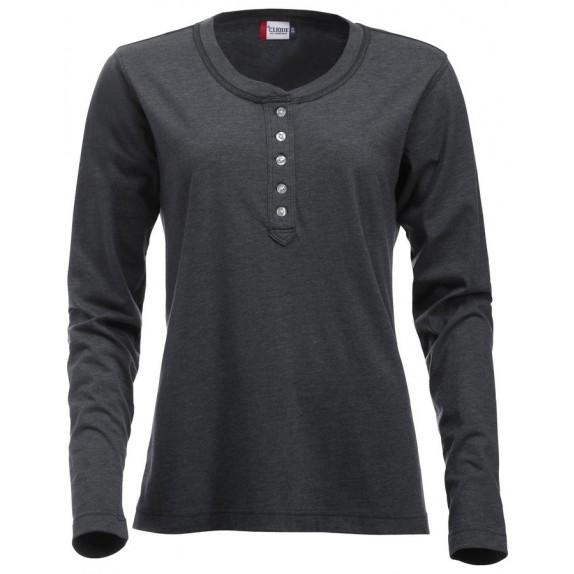 Clique Orlando ds T-shirt Antraciet Melange