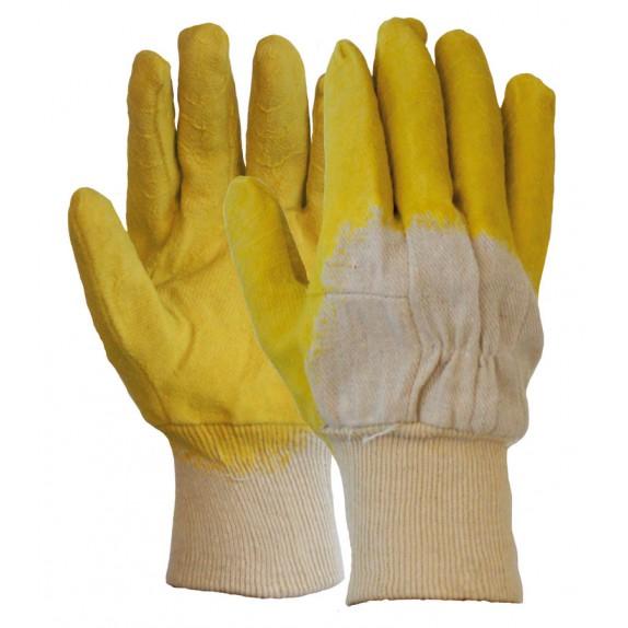 Latex gedompelde handschoen met open rugzijde maat 10