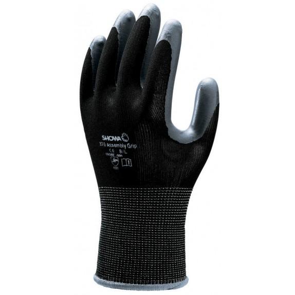 Showa 370 Assembly Grip Black handschoen