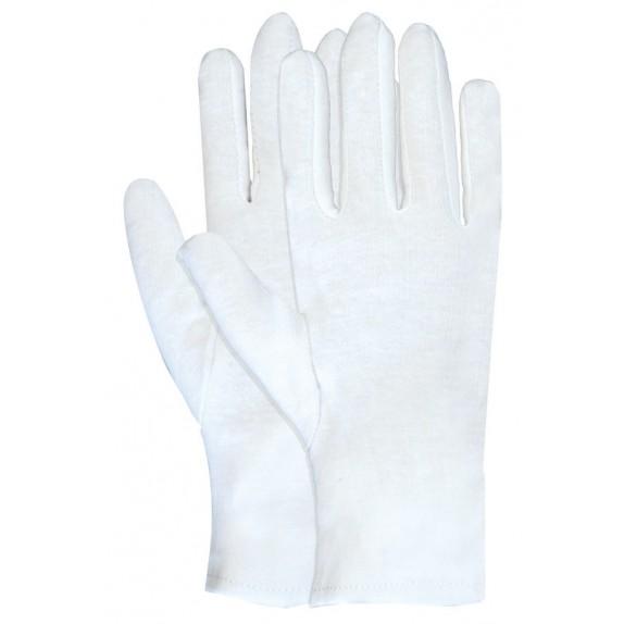Interlock handschoen van 100% katoen wit gebleekt