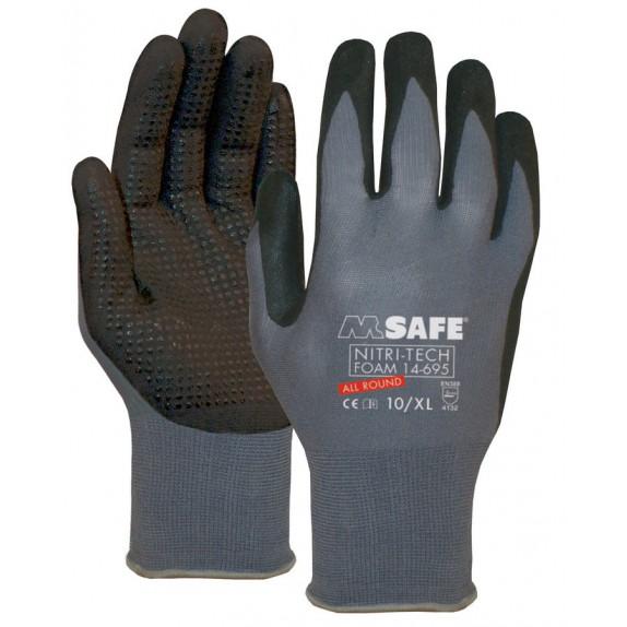 M-Safe Nitri-Tech Foam 14-695 handschoen met noppen