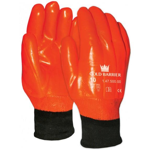 PVC handschoen 47-500 oranje maat 10