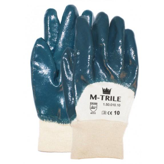 NBR M-Trile 50-010 handschoen tricot manchet open rugzijde