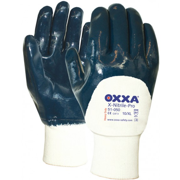 Oxxa X-Nitrile-Pro 51-050 met tricot manchet en open rugzijde