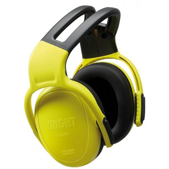 MSA gehoorkap left/RIGHT LOW met hoofdbeugel geel SNR 24 dB(A) (10087434)