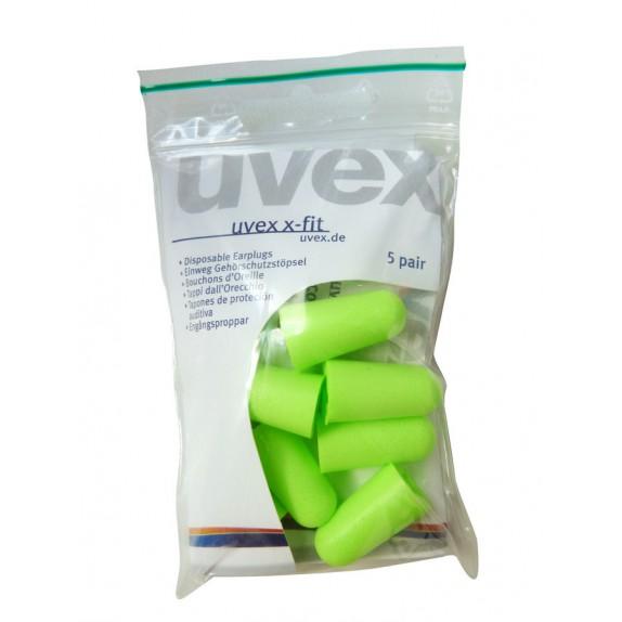 Uvex oordop x-fit 12x5 paar (2112-015)