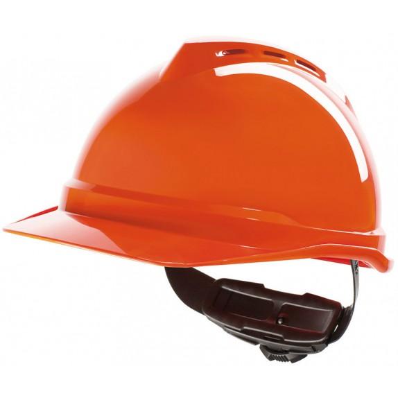 MSA V-Gard 500 geventileerde veiligheidshelm met Fas-Trac III binnenwerk (GV462) oranje