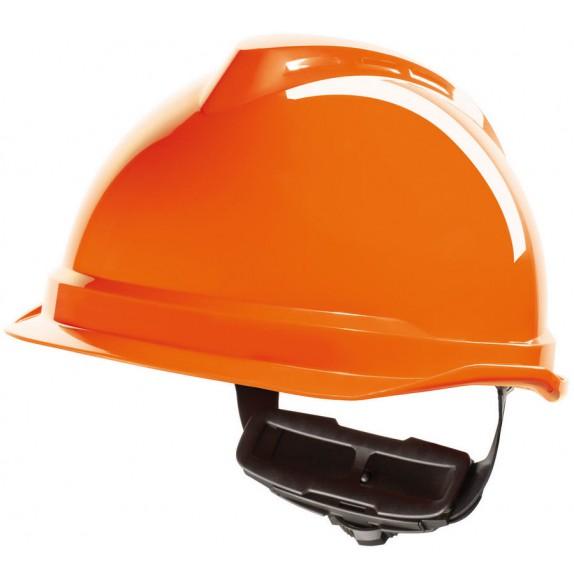 MSA V-Gard 520 veiligheidshelm met Fas-Trac III binnenwerk (GV952) oranje