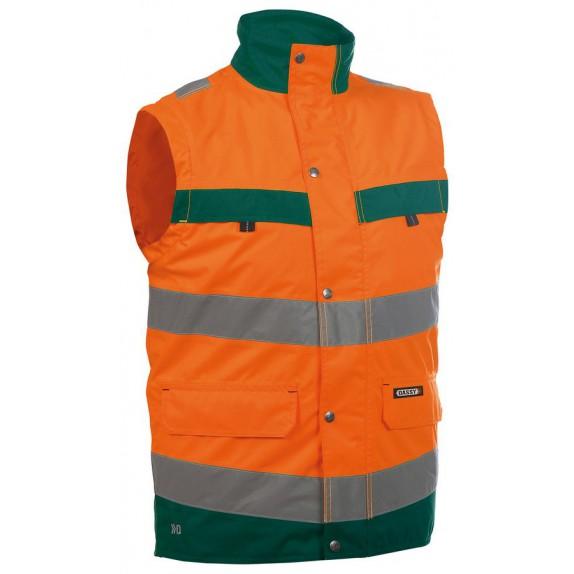 Dassy Bilbao Hoge zichtbaarheidsbodywarmer Oranje/Groen