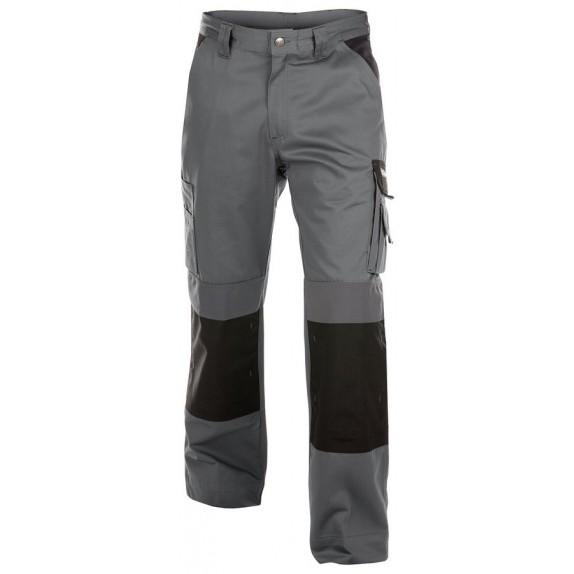 Dassy Boston Women werkbroek met kniezakken Grijs/Zwart - 245 g/m²