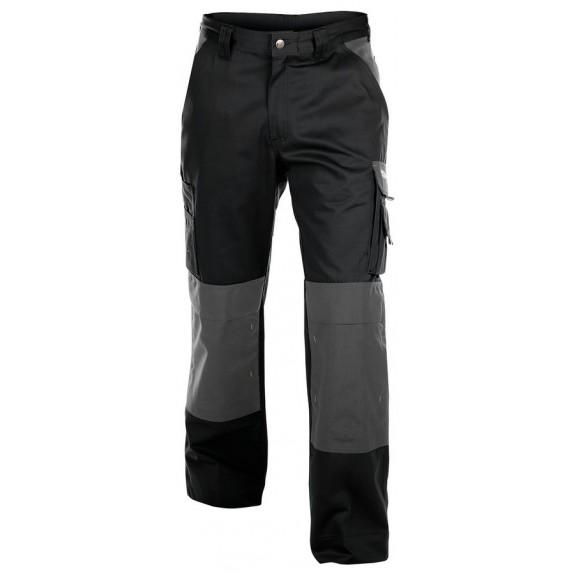 Dassy Boston werkbroek met kniezakken Grijs/Zwart - 300 g/m²